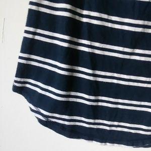 Hollister Tops - 5/$15 Hollister Med Blue Stripe V-neck Tee Shirt